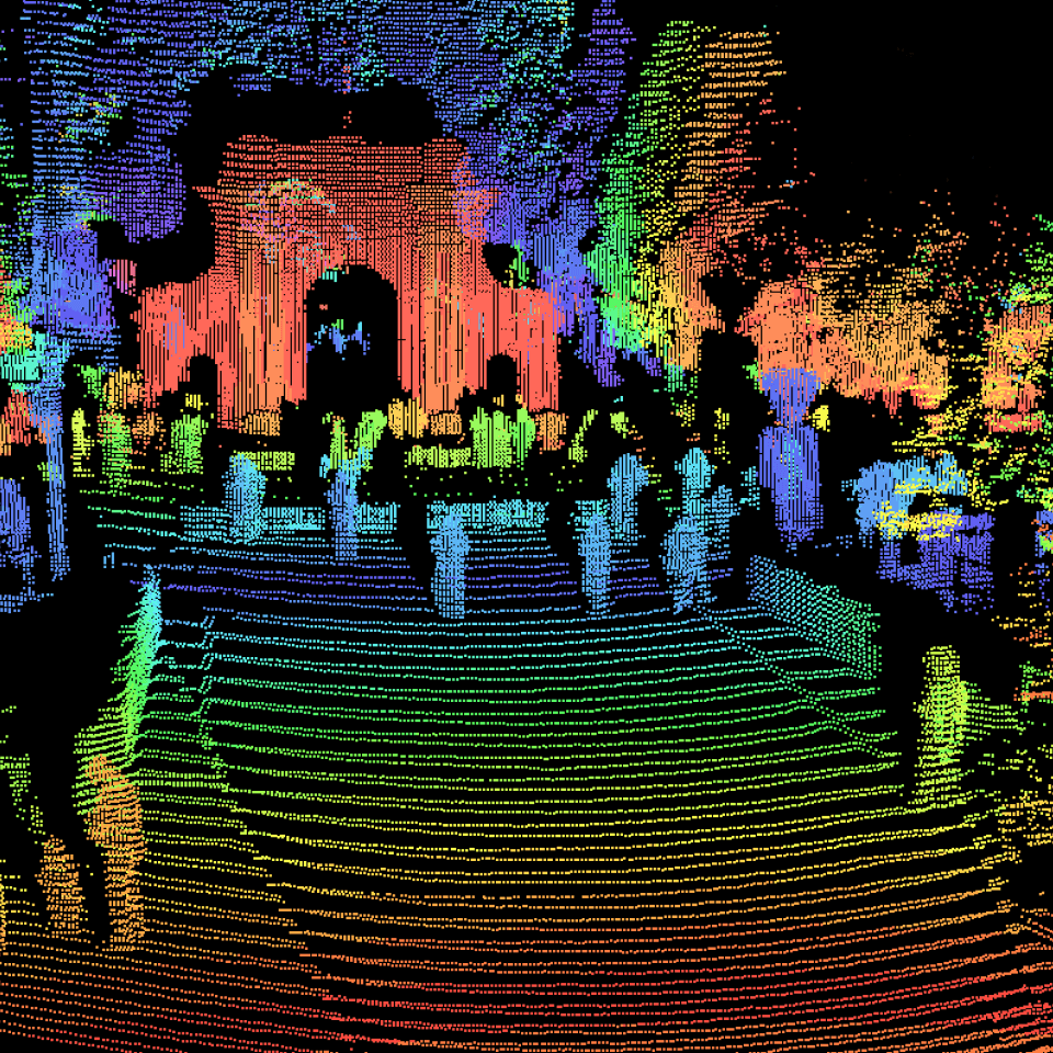 Point cloud captured by Hesai PandarGT